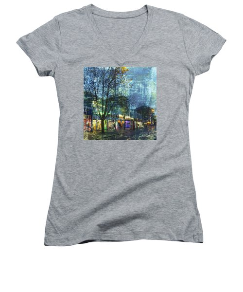 Late Afternoon In Autumn Women's V-Neck