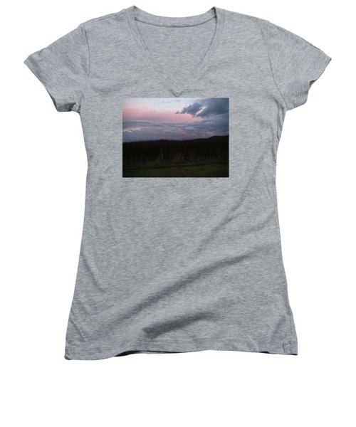 Late Light Women's V-Neck T-Shirt (Junior Cut) by Laurie Stewart