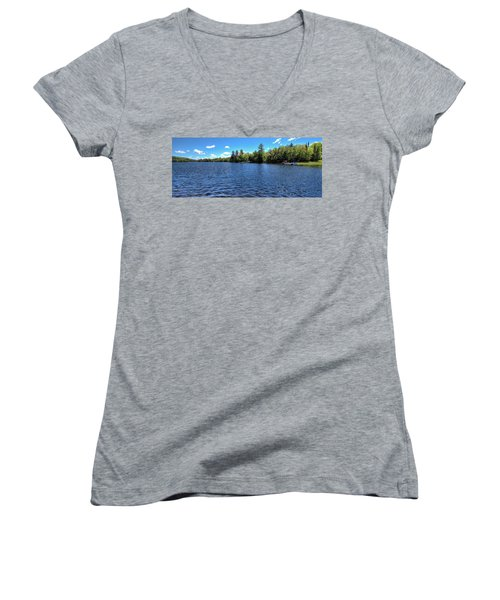 Late Spring On 6th Lake Women's V-Neck
