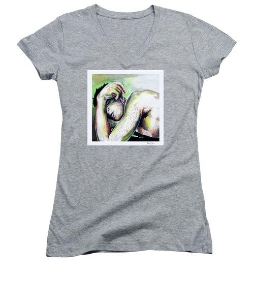 Latitude And Logintude Women's V-Neck T-Shirt