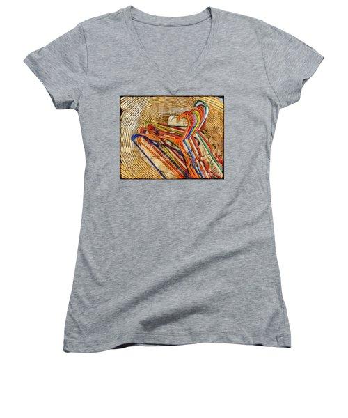 Laundry Basket Women's V-Neck T-Shirt