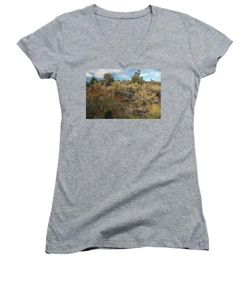 Lava Formations Women's V-Neck T-Shirt
