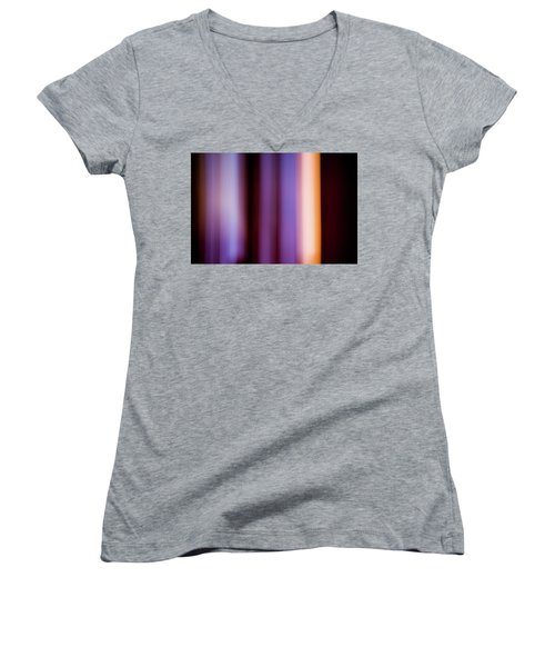 Lavender And Rose Gold Women's V-Neck