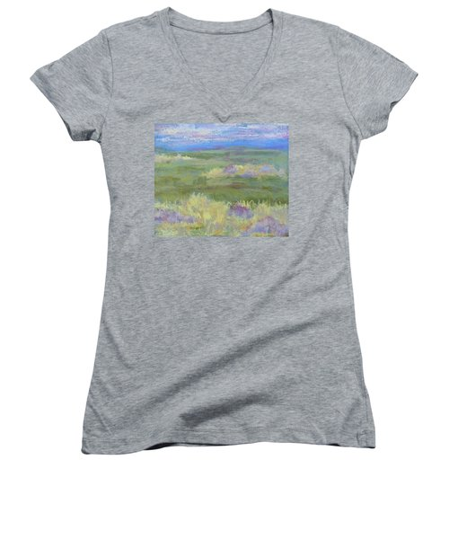 Lavender And Wheat Women's V-Neck