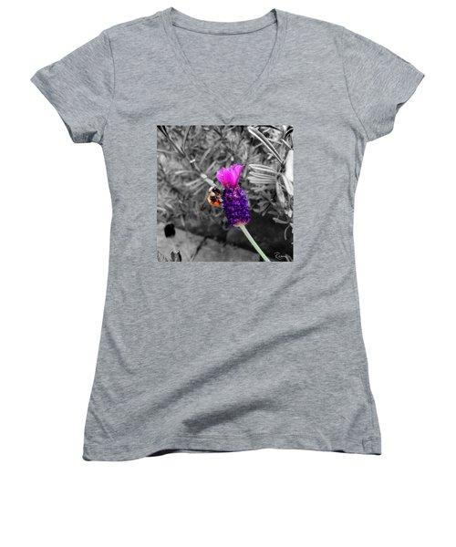 Lavender Harvest Women's V-Neck