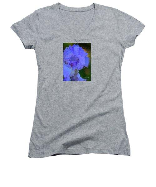 Lavender Curlicue Iris  Women's V-Neck