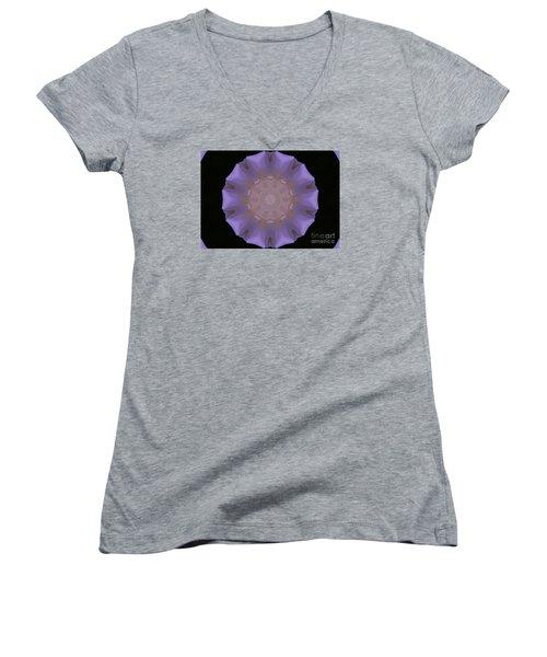 Lavender Pinwheel Women's V-Neck T-Shirt