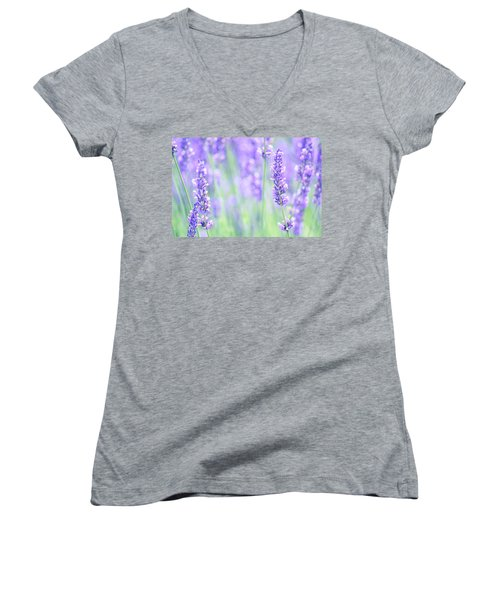 Lavender Women's V-Neck (Athletic Fit)