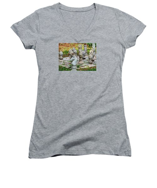 Lawn Chess Women's V-Neck (Athletic Fit)