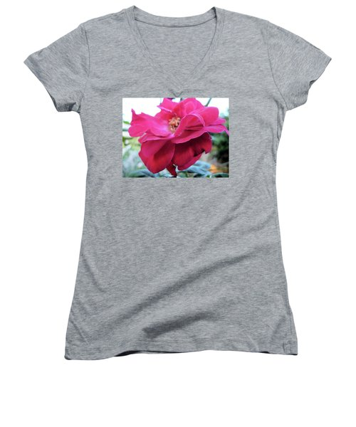 Women's V-Neck T-Shirt (Junior Cut) featuring the photograph Layers And Layers by Beto Machado