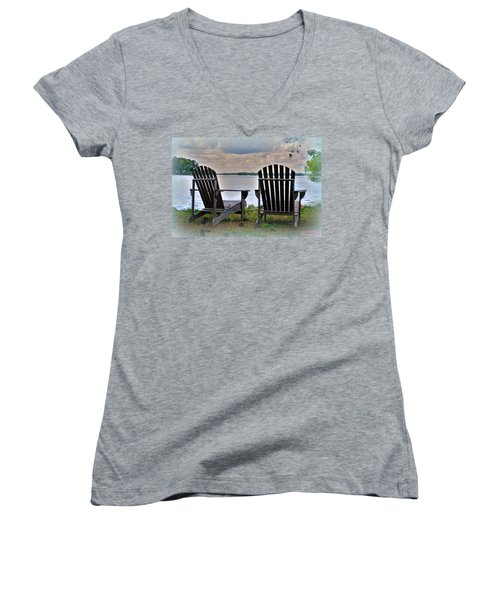 Lazy Afternoon Women's V-Neck