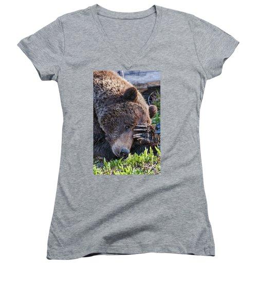 Lazy Bear Women's V-Neck