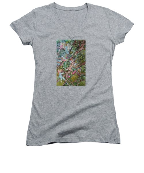Lazy Days Women's V-Neck T-Shirt (Junior Cut) by Claudia Cole Meek