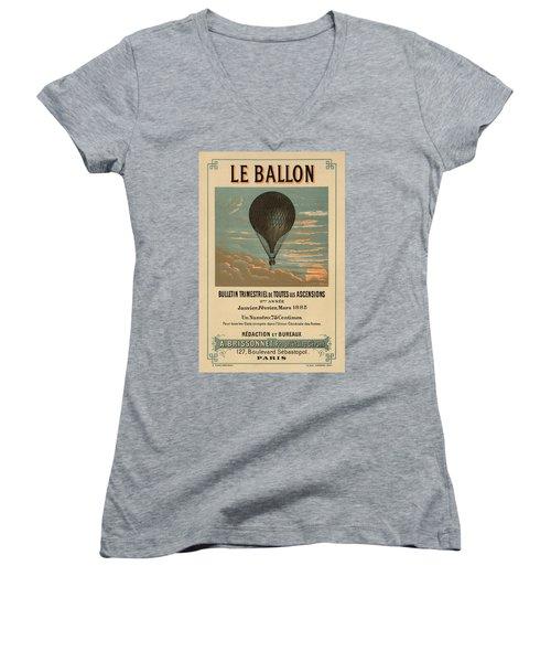 Le Balloon Journal Women's V-Neck T-Shirt