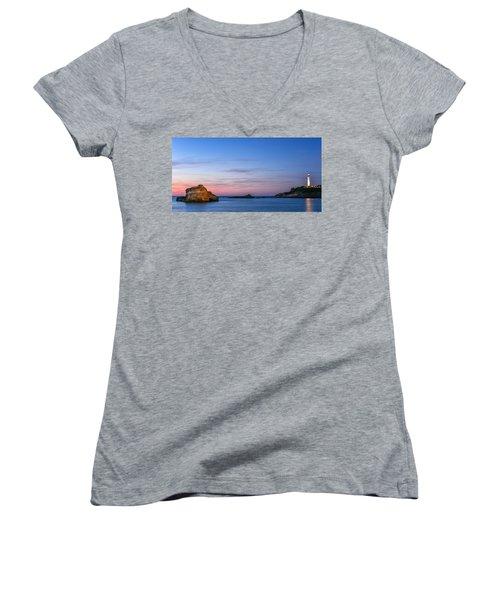 Le Phare De Biarritz Women's V-Neck T-Shirt