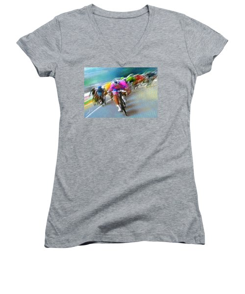 Le Tour De France 09 Women's V-Neck (Athletic Fit)
