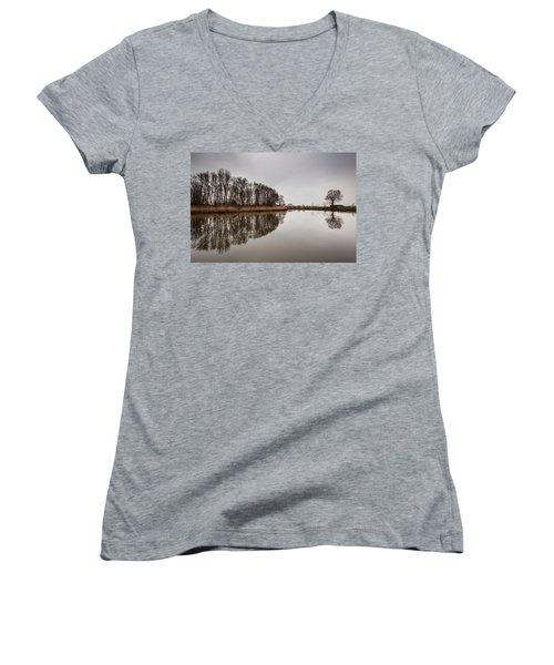 Women's V-Neck T-Shirt (Junior Cut) featuring the photograph Leader by Davorin Mance
