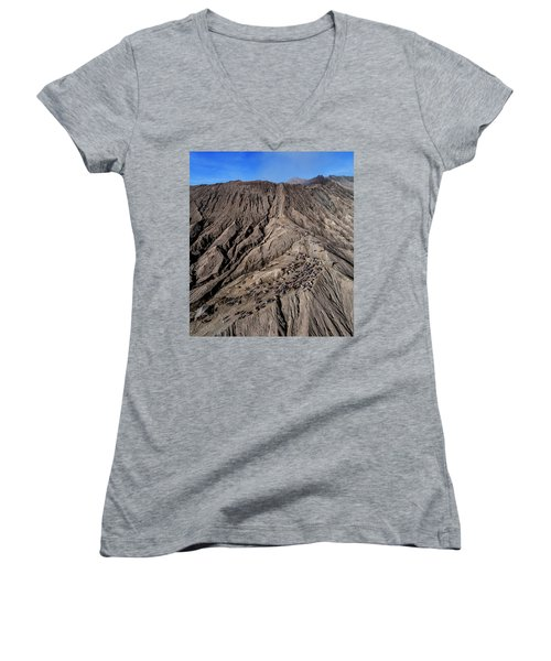 Leading To The Volcano Crater Women's V-Neck