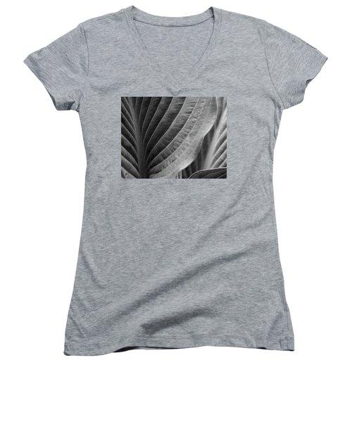 Leaf - So Many Ways Women's V-Neck T-Shirt (Junior Cut) by Ben and Raisa Gertsberg