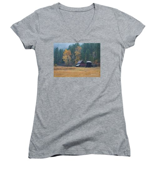 Leaning Into Winter Women's V-Neck (Athletic Fit)