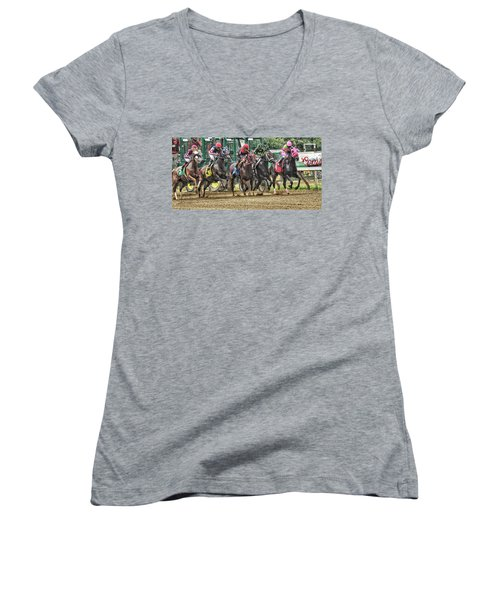 Leaping Forward Women's V-Neck (Athletic Fit)