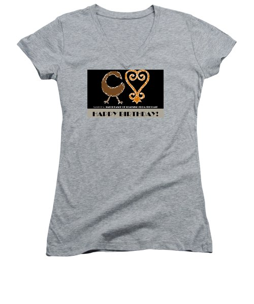 Learning Women's V-Neck T-Shirt