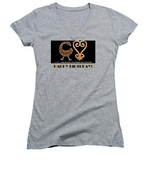 Learning Women's V-Neck T-Shirt (Junior Cut)