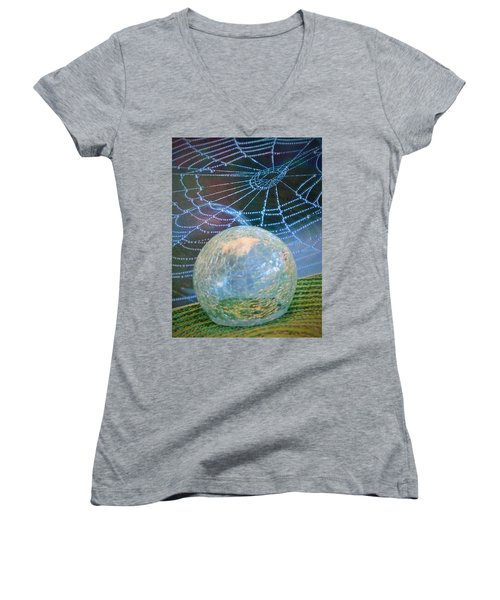 Women's V-Neck T-Shirt (Junior Cut) featuring the photograph Learning by John Glass