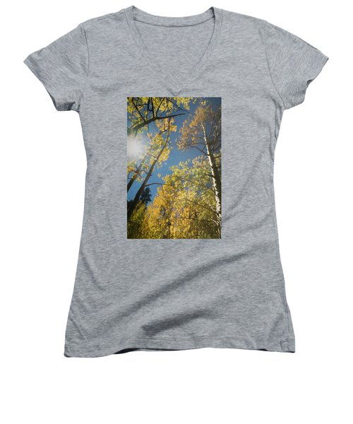 Leaves Of Fall Women's V-Neck (Athletic Fit)