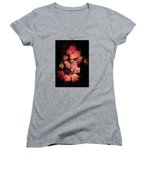 Leaves Of Surrender Women's V-Neck T-Shirt (Junior Cut) by Karen Wiles