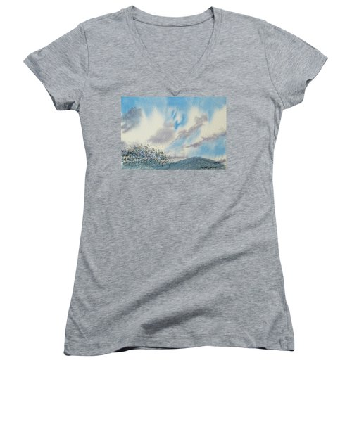 The Blue Hills Of Summer Women's V-Neck (Athletic Fit)