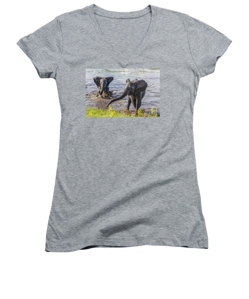 Leaving The River Women's V-Neck (Athletic Fit)