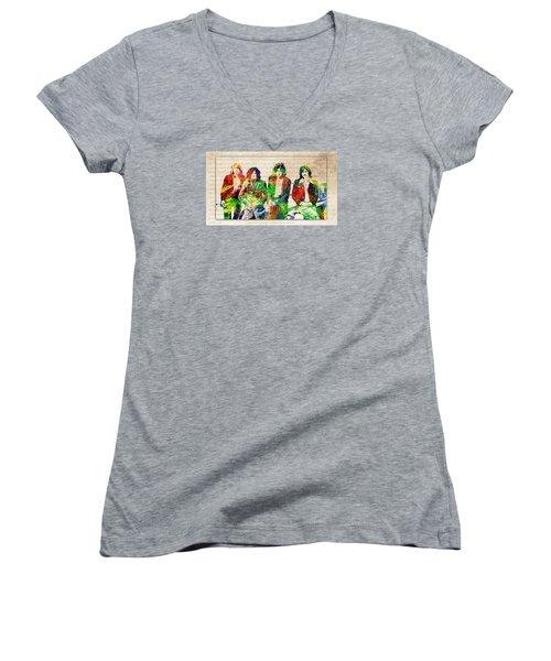 Led Zeppelin Women's V-Neck