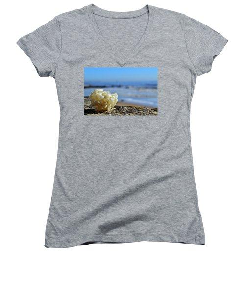Left By The Tide Women's V-Neck T-Shirt