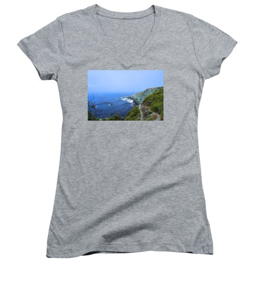 Left Coast Women's V-Neck T-Shirt