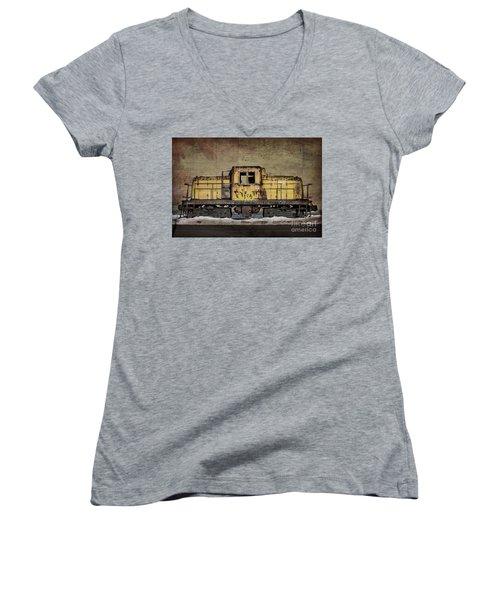 Left To Rust Women's V-Neck T-Shirt (Junior Cut) by Judy Wolinsky