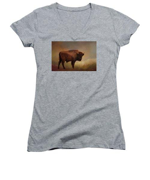 Legend Of Buffalo Spirit Women's V-Neck
