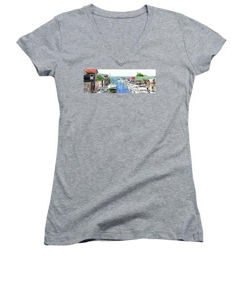 Leland Fishtown Women's V-Neck T-Shirt