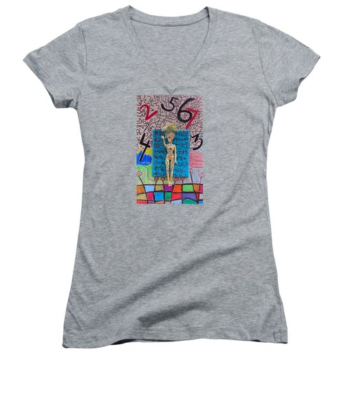 Lemon Balm Herbal Tincture Women's V-Neck T-Shirt (Junior Cut) by Clarity Artists