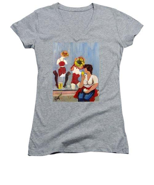 Lemon Eis Women's V-Neck T-Shirt