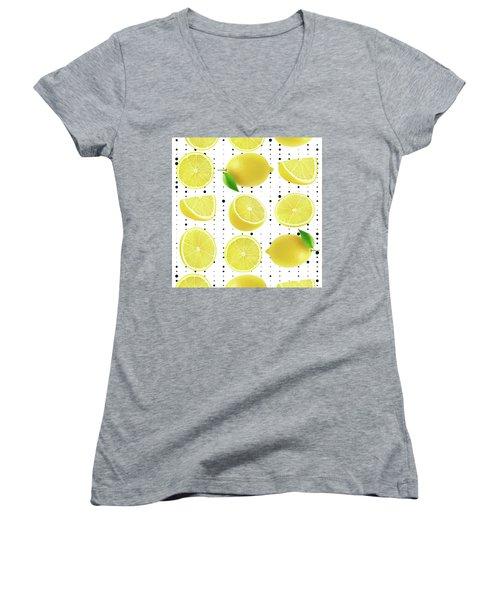 Lemon  Women's V-Neck T-Shirt