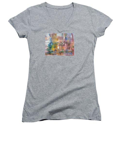 Lemonade From Lemons Women's V-Neck T-Shirt (Junior Cut) by Becky Chappell