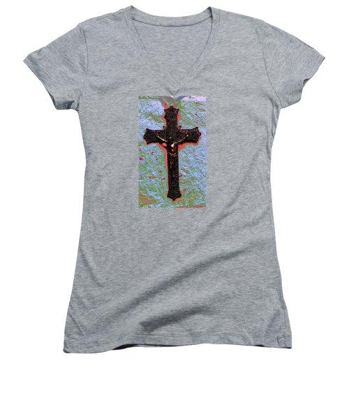 Lent Women's V-Neck T-Shirt (Junior Cut) by M Diane Bonaparte