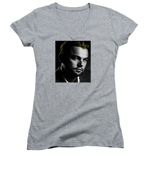 Leonardo Di Caprio Women's V-Neck T-Shirt (Junior Cut)