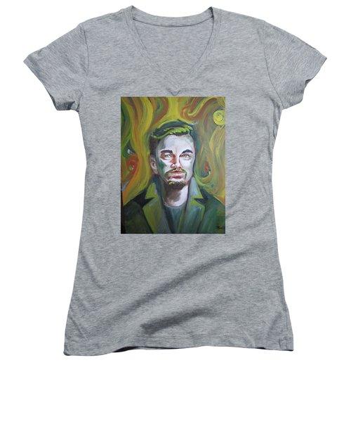 Leonardo Di Caprio Women's V-Neck T-Shirt