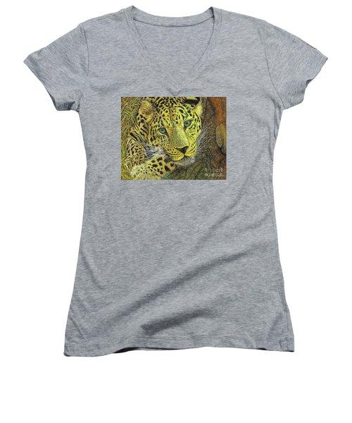 Leopard Gaze Women's V-Neck