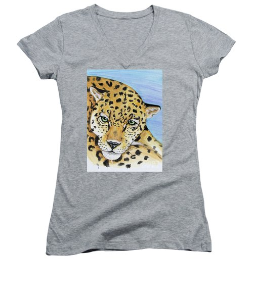 Leopard Women's V-Neck (Athletic Fit)