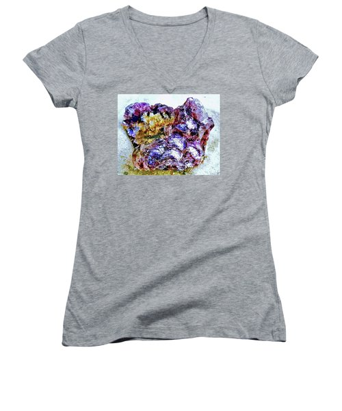 Lepidolite Women's V-Neck T-Shirt (Junior Cut) by Rachel Hannah