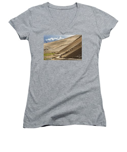Less Traveled Women's V-Neck T-Shirt