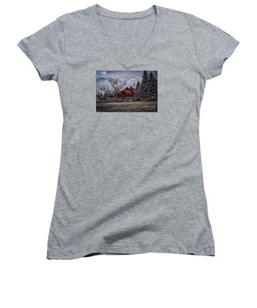 Let It Be Women's V-Neck T-Shirt (Junior Cut) by Mitch Shindelbower
